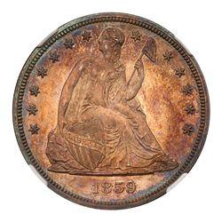 1859 Liberty Seated Dollar. NGC PF66