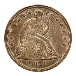1859-S Liberty Seated Dollar. PCGS MS62