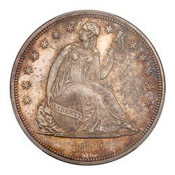 1860 Liberty Seated Dollar. PCGS PF64