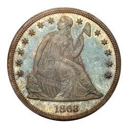1863 Liberty Seated Dollar. PCGS PF66