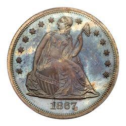 1867 Liberty Seated Dollar. PCGS PF65