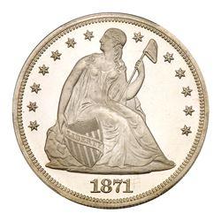 1871 Liberty Seated Dollar. PCGS PF66