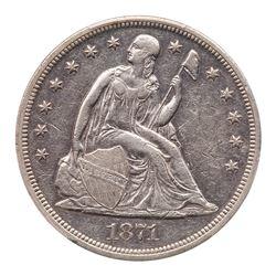 1871 Liberty Seated Dollar. PCGS EF45