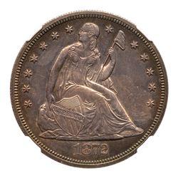 1872-CC Liberty Seated Dollar. NGC MS63