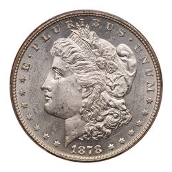 1878 Morgan Dollar. 7 tail feathers, reverse of 1878. PCGS MS63