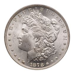 1878 Morgan Dollar. 7 tail feathers, reverse of 1879. PCGS MS63