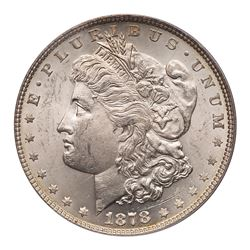 1878 Morgan Dollar. Weakly doubled tail feathers. PCGS MS63