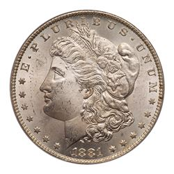 1881-CC Morgan Dollar. PCGS MS64