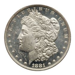 1881-O Morgan Dollar. PCGS MS63