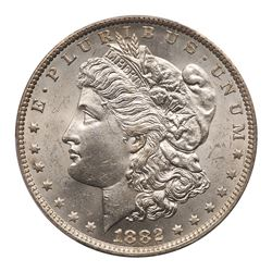 1882-O Morgan Dollar. O over S (weak). PCGS MS63