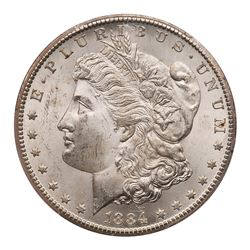 1884-CC Morgan Dollar. PCGS MS63