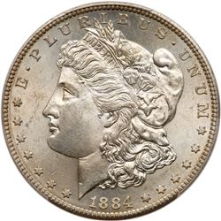 1884-S Morgan Dollar. PCGS MS63