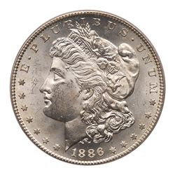1886-S Morgan Dollar. PCGS MS63