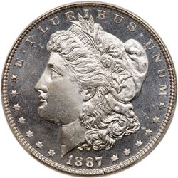 1887 Morgan Dollar. PCGS MS66