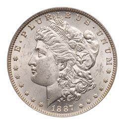 1887/6-O Morgan Dollar. PCGS MS63