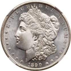 1890-O Morgan Dollar. NGC MS66