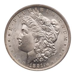 1891-O Morgan Dollar. PCGS MS64