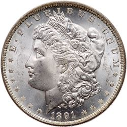 1891-O Morgan Dollar. PCGS MS63