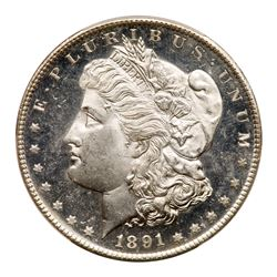 1891-S Morgan Dollar. PCGS MS65