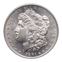 1891-S Morgan Dollar. PCGS MS63