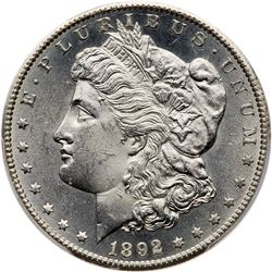 1892-CC Morgan Dollar. PCGS MS63