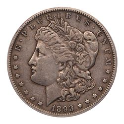 1893-CC Morgan Dollar. PCGS EF40