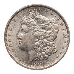 1901 Morgan Dollar. PCGS AU53