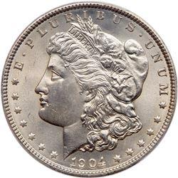 1904 Morgan Dollar. PCGS MS65