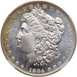 1904-O Morgan Dollar. NGC MS67