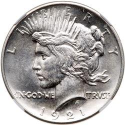 1921 Peace Dollar. NGC MS64