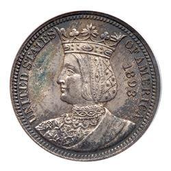 1893 Isabella Quarter Dollar. PCGS MS64