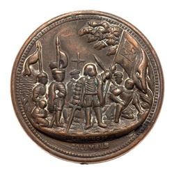 Two (1880-90's) Columbia Exposition Medal - G.Washington/Lord's Prayer Medal. Baker-651, Eglit-255,