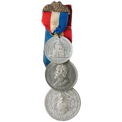 Three Commemorative Medals with Ribbons. Extra-Fine & About Uncirculated.