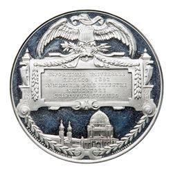 1892-93 Columbian Exposition - Esposizione Universale, Eglit-37 White metal, Brilliant Uncirculated,