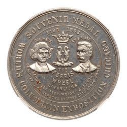 1892 Columbian Exposition - Ferris Wheel Medal. Eglit-20, Aluminum. NGC MS63