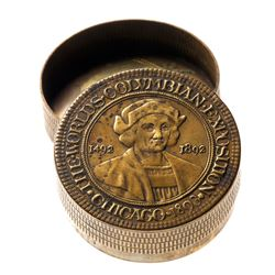1892-93 Columbian Exposition - Sterling Silver Snuff Box.