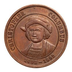 1892 Columbian Exposition - Celebrated in New York - Eglit-205, Bronze, Brilliant Uncirculated, Brow