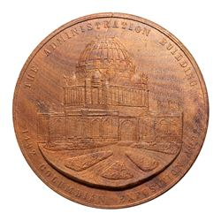 1893 Set of Four Pressed Wood Exposition Building Medals.