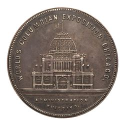 1893 Columbian Exposition - Locket with photograph inside. Eglit-92, Silver, AU toned.