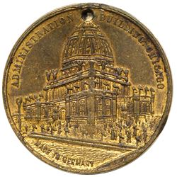 1893 Columbian Exposition - Box Medal with Photographs inside. Eglit-134, Brass, Extra-Fine.