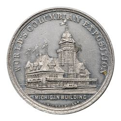 Two 1893 Michigan Building & Michigan Forestry Exhibit Medals.