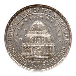 1893 Bird's Eye View Medal, HK-166, Eglit-21, Aluminum. NGC MS63