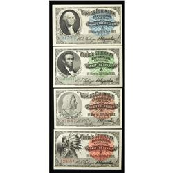 1893 Four Columbian Exposition Admission Tickets, Eglit 389-392. Gem Crisp Uncirculated.