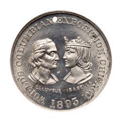 1893 Columbian Exposition - Columbus & Isabella Medal, Eglit-39, Aluminum. NGC MS64