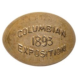 1893 Columbian Exposition Elongated 1887 Liberty Nickel. Eglit-371. About Uncirculated