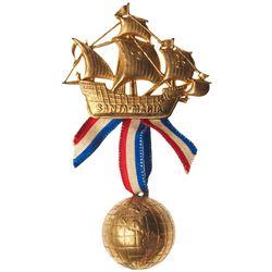 1893 Columbian Exposition - Santa Maria Globe Badge. Eglit-540