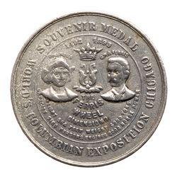 1893 Columbian Exposition - Ferris Wheel Medal, Eglit-20, Aluminum. About Uncirculated