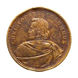 Two 1893 Columbian Expo, Lauer Bust Medals. Eglit-24, Bronze & Silvered, About Uncirculated.