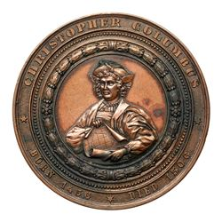 1893 Columbian Exposition - Christopher Columbus, Eglit-55, Bronze. Uncirculated