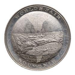 1893 Columbian Exposition - World Globe So-Called Dollar, HK-174, Eglit-9, Thick planchet, Aluminum.